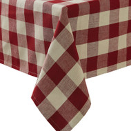 WICKLOW CHECK TABLECLOTH 54X54 GARNET