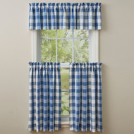 WICKLOW CHECK VALANCE 72X14 CHINA BLUE