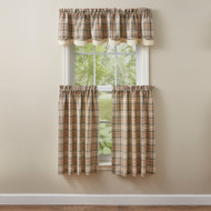 GENTRY LINED LAYERED VALANCE 72 X16