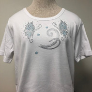 Butterflies & Flower Decor Scoop Neck Tee