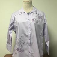 Butterfly Lavender Swirl 3/4 Sleeve Shirt
