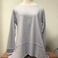 Feather Decor Raw Edge Tunic