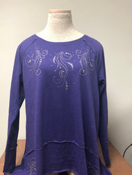 Silver Grommet Raw Edge Tunic