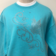 Butterflies & Flower Decor Sweatshirt