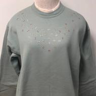 Tri-color Grommet Sweatshirt