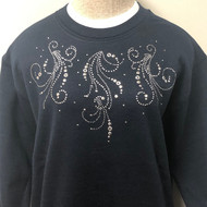 Silver Grommet Sweatshirt