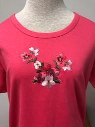 Raspberry Floral Scoop