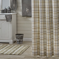 IN THE MEADOW PLAID SHOWER CURTAIN 72X72