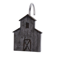 ANTIQUE FARMHOUSE BARN SHOWER CURTAIN HOOKS