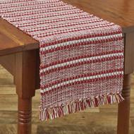 PEPPERMINT STRIPE TABLE RUNNER 13X54