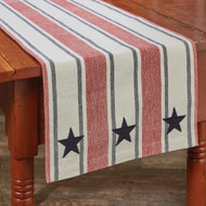STARS AND STRIPES TABLE RUNNER 13X36