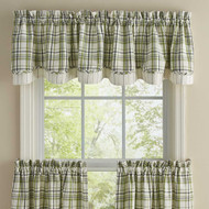 TIME IN A GARDEN LINED LAYERED VALANCE 72X16