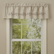 Cotton Blossom Embroidered Lined Valance