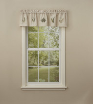 Dragonfly Embroidered Lined Valance