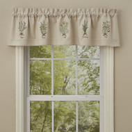 HERB Embroidered Lined Valance