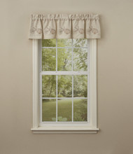 SHELLS Embroidered Lined Valance