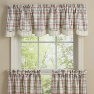 FARM YARD LINED LAYERED VALANCE