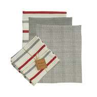 FARM YARD 3 DISHTOWEL AND 1 DISHCLOTH SET