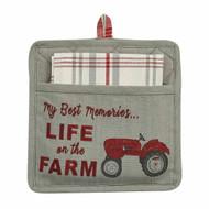 LIFE ON THE FARM POCKET POTHOLDER SET