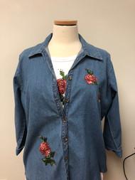 Coral Tones 3/4 Sleeve Shirt