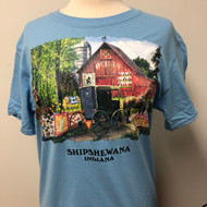 Amish Quilts w Shipshewana Namedrop T-Shirt