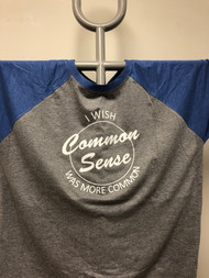 Common Sense Raglan 3/4 Sleeve Top