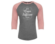 Sufficient Grace Raglan 3/4 Sleeve Top