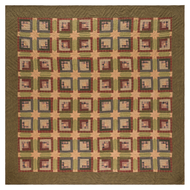 Tea Cabin Twin Quilt 90x70