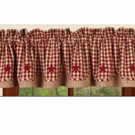 "Heritage House Check w/ Barn Red 72"" x 15.5"" Barn Red - Nutmeg"