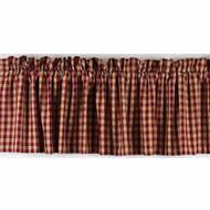 "Heritage House Check 72"" x 15.5"" Barn Red - Nutmeg"