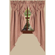 """Heritage House Check 72"""" x 63"""" (2 pcs) Barn Red"""