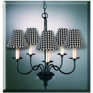 "5-Arm Chandelier 19"" x 20"" Black"