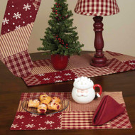 "Patchwork Christmas 14"" x 18"" Barn Red"