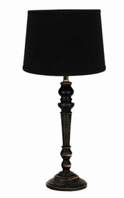 """Wilmont Table Lamp  6"""" x 18"""" Black"""