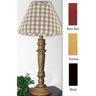 """Wilmont Table Lamp  6"""" x 18"""" Barn Red"""