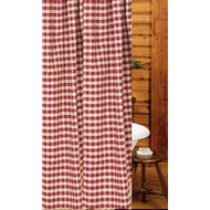 "Heritage House Check 72"" x 72"" Barn Red - Nutmeg"