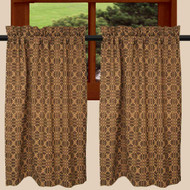 "Marshfield Jacquard 72"" x 36"" (2 pcs) Black - Tan"