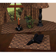 "Marshfield Jacquard 14"" x 36"" Black - Tan"