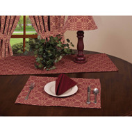 "Marshfield Jacquard 14"" x 36"" Barn Red - Tan"