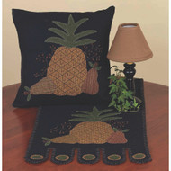 "Folk Art Pineapple 14"" x 36"" Black"
