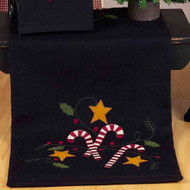 "Candy Cane 14"" x 36"" Black"