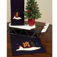 "Evergreen Christmas 14"" x 36"" Black"