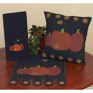 "3 Fall Pumpkins 14"" x 36"" Black"