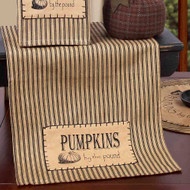 "Pumpkins by the Pound 14"" x 36"" Tea Dyed"