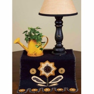 "Sunflower 14"" x 36"" Black - Mustard"