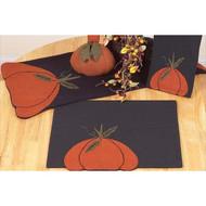 """Harvest Blessings 14"""" x 36"""" Black - Orange"""