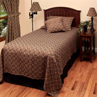 "Marshfield Jacquard 78"" x 96"" Black - Tan"