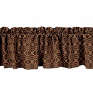 "Marshfield Jacquard 72"" x 15.5"" Black - Tan"