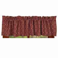 "Marshfield Jacquard 72"" x 15.5"" Barn Red - Tan"