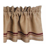 "Burlap Stripe 72"" x 15.5"" Barn Red - Wheat"